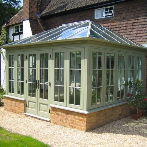 double hip conservatory roof