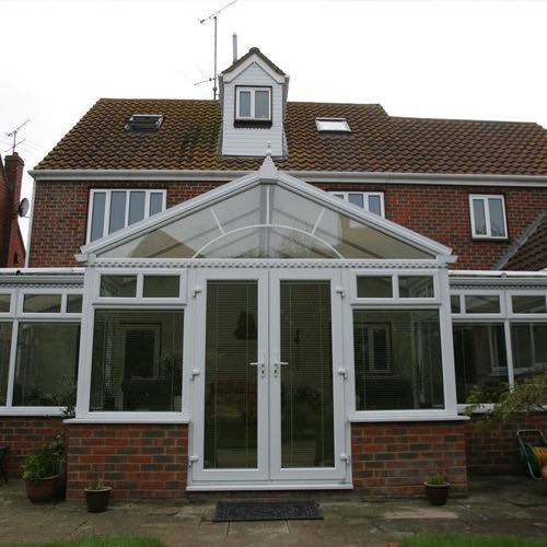 the gable conservatory roof creates a stunning design feature