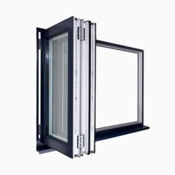 Open uPVC Bi-Fold Windows