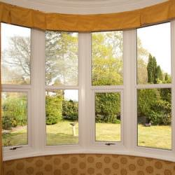 Inside uPVC bow window