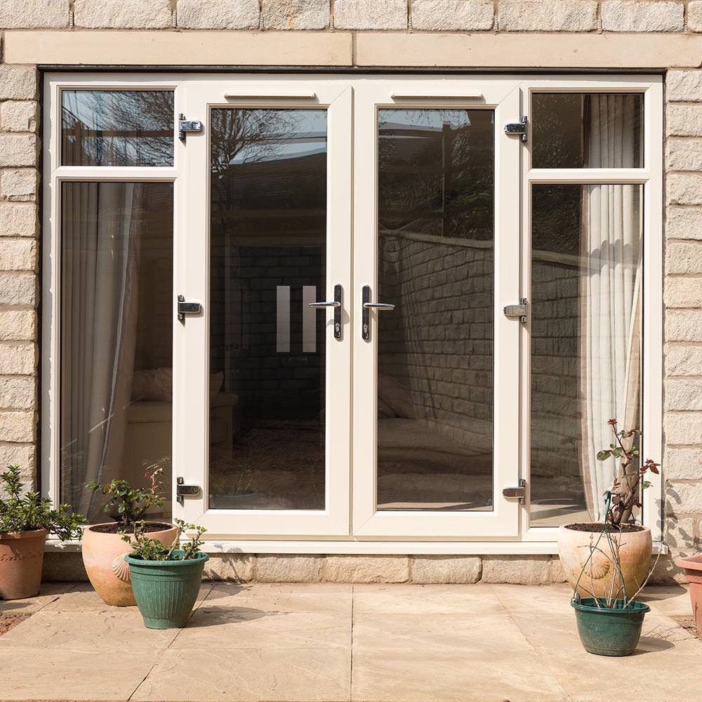 uPVC French doors add a European charm for reasonable double glazed doors prices