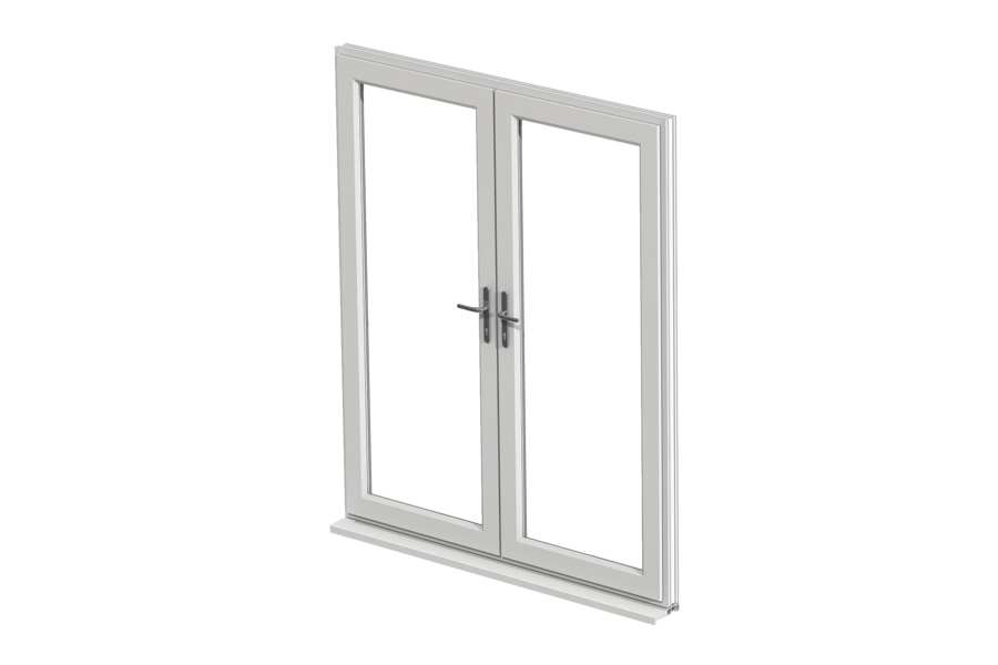 Upvc french doors internal and external french door prices for Wood effect upvc french doors