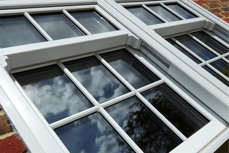 uPVC sash window close up