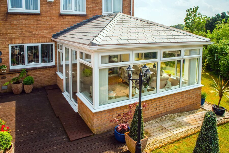 convert conservatory to a fully roofed room