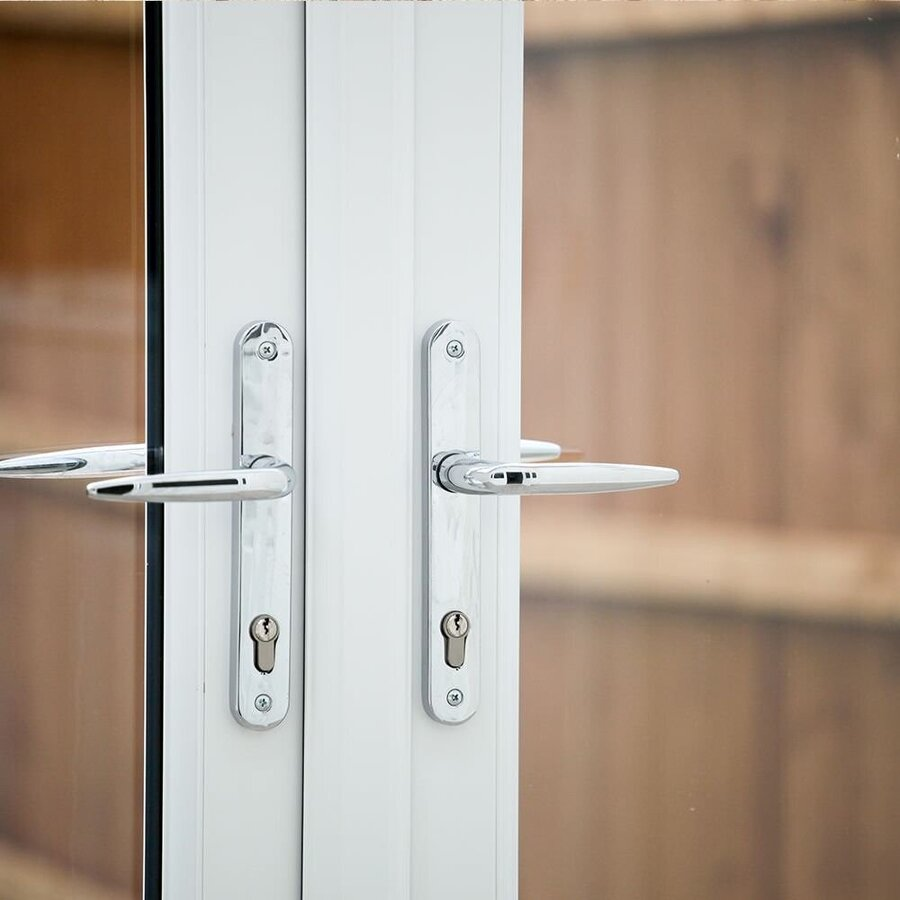 Upvc french doors internal and external french door prices for Upvc french door hinges