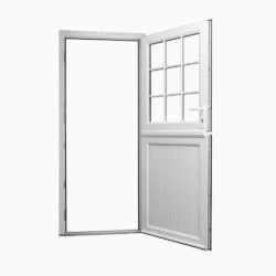 White uPVC stable door