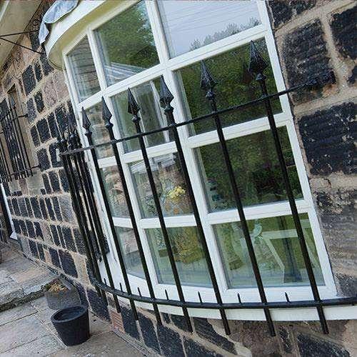 Bow double glazed windows sit on a shelf