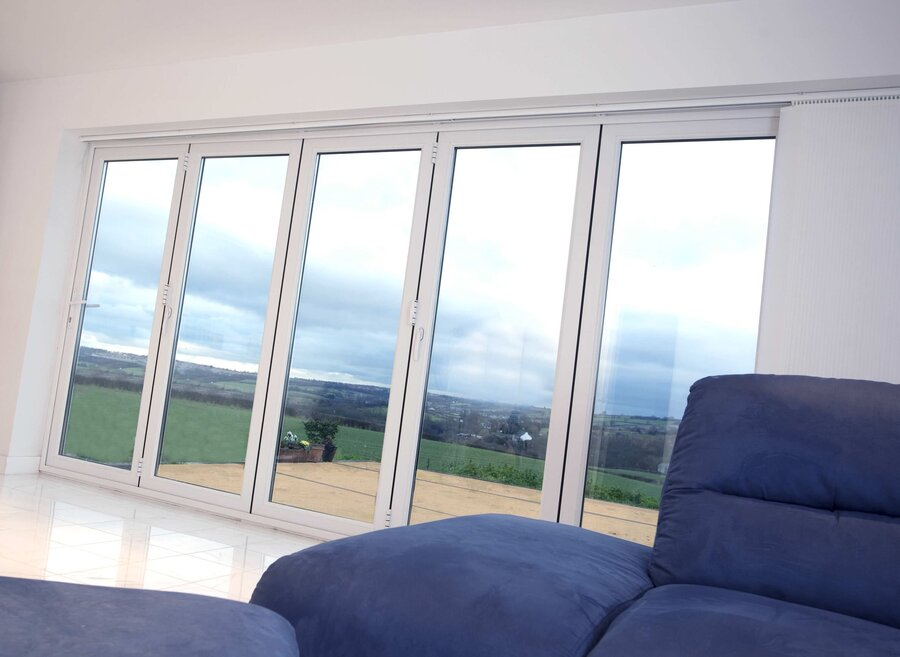 White uPVC Bi-Fold Doors