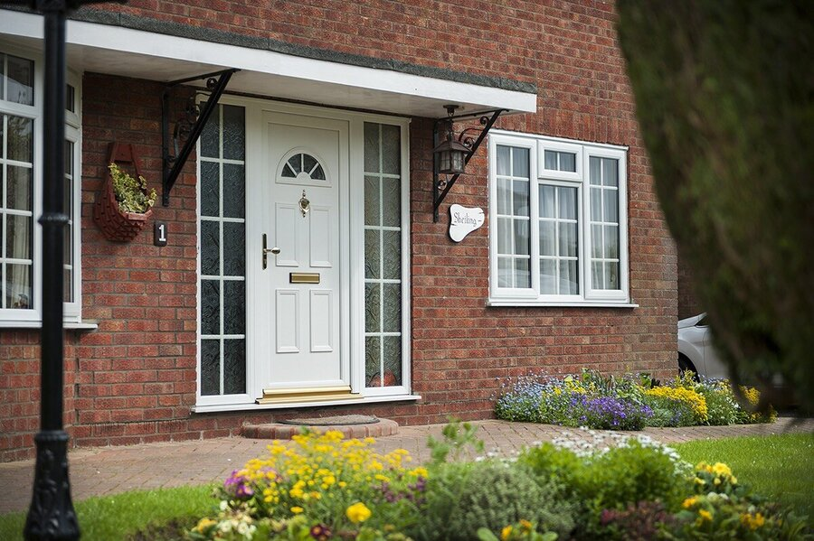 how much are upvc front doors