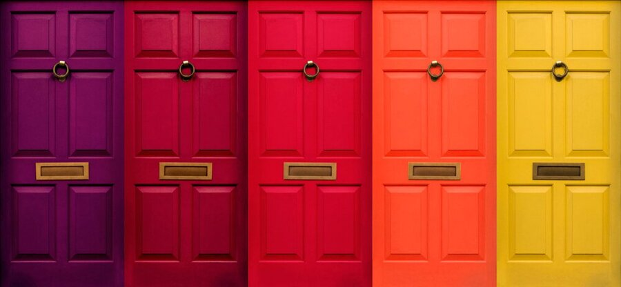 bespoke coloured doors prices