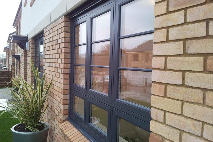 grey upvc windows